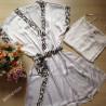 Robe Feminino Curto Seda Branco. Megadose