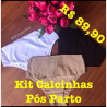 Kit Calcinhas Gestante Cotton